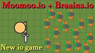 Moomoo.io + braains.io || New io game || Zombs.io