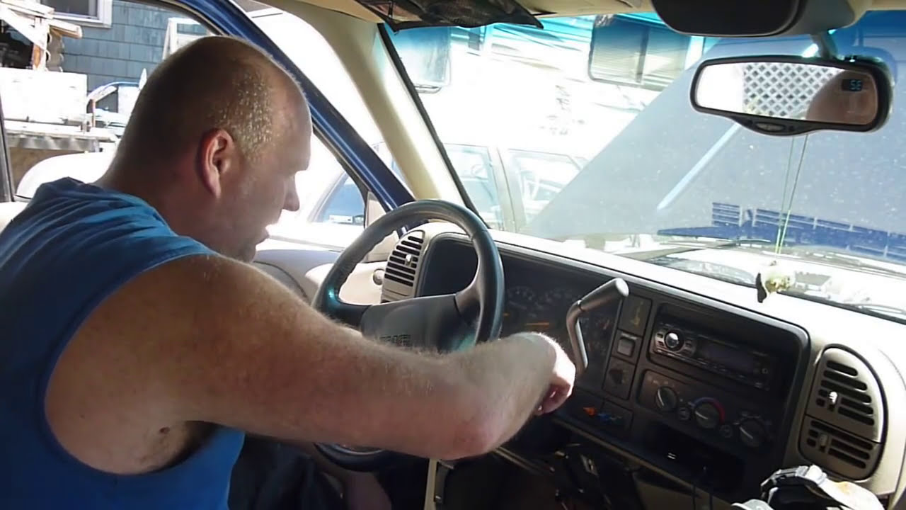 REMOVING GMC STEERING WHEEL,LOCK PLATE ,LOCK CYLINDER, AND