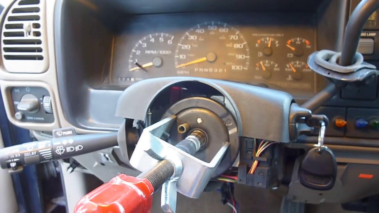 medium resolution of removing gmc steering wheel lock plate lock cylinder and plastics youtube
