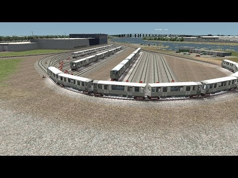 Train Simulator 2018 HD: Running Chicago L Cars on PATH Tracks in North Jersey Coast Line DLC