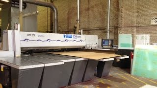 Holzma Hpp23/33 Beamsaw For Cutting Plastics | Scott+sargeant Woodworking Machinery