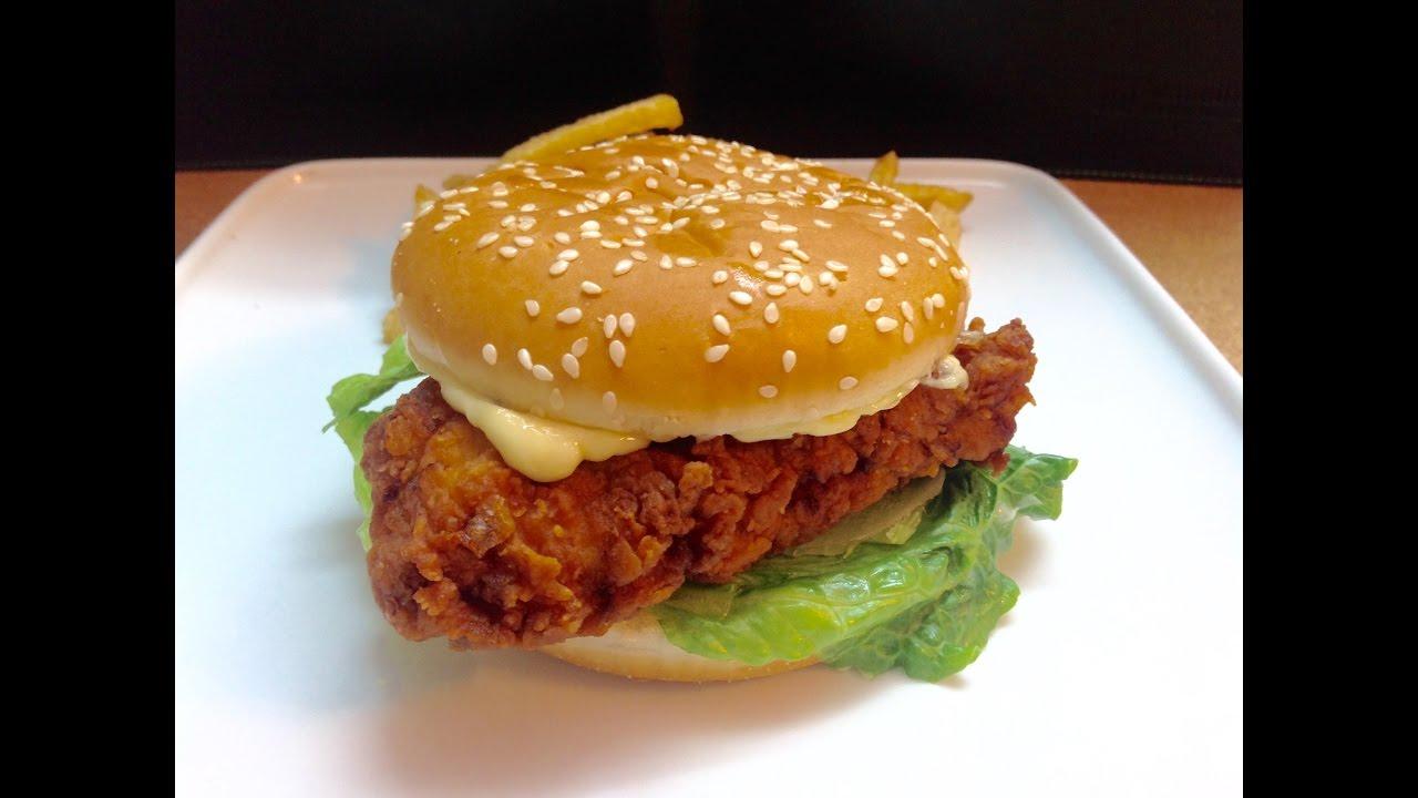 Zinger Burger | KFC Crispy Zinger Burger - YouTube