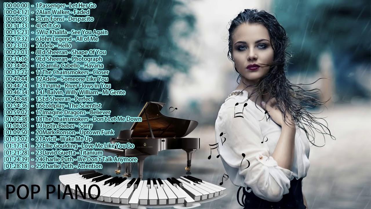 Canciones En Piano Música En Inglés 2018 Canciones Piano Inglés Pop Piano Songs 2019 Youtube