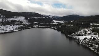 4k - titisee lake in winter