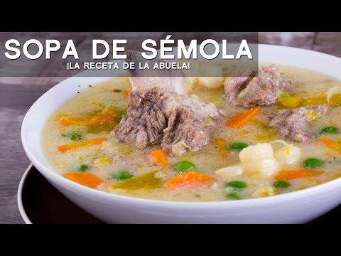 SOPA DE SÉMOLA - COMIDA PERUANA | RECETA DE ACOMER.PE