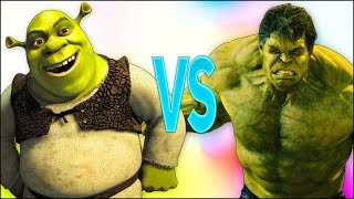 ШРЕК VS ХАЛК | СУПЕР РЭП БИТВА | Shrek cartoon ПРОТИВ Hulk Avengers new movie