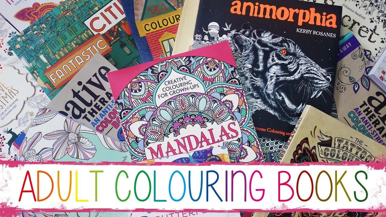 my adult colouring book collection youtube