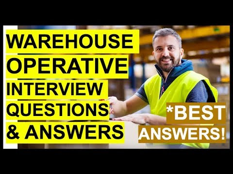 WAREHOUSE OPERATIVE Interview Questions And Answers! (How To PASS A WAREHOUSE WORKER Interview!)