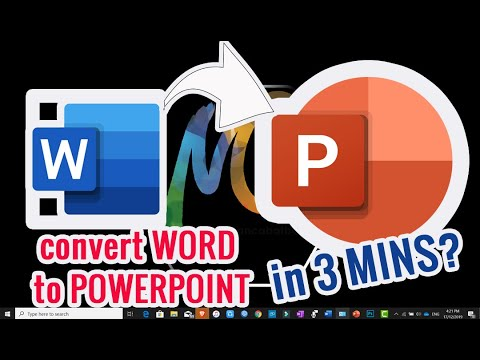 How To Convert Word To Powerpoint In 3 Minutes(TAGLISH)