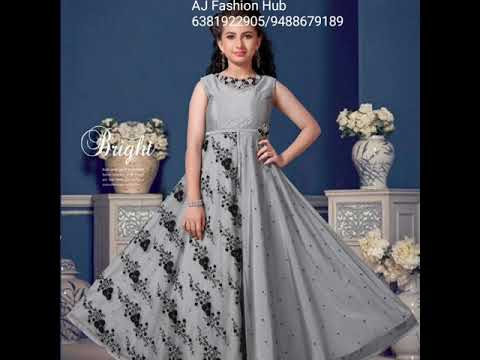 Designer Kids Gown Anarkali  dress Collections by [AJ Fashion Hub]