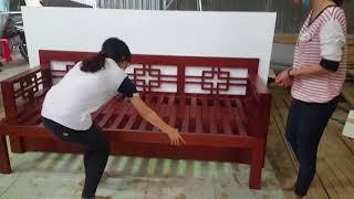 Ghế sofa kéo thành giường, có 2 ngăn kéo rộng - cách sử dụng