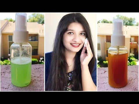 DIY - Homemade Facial Toner | Natural skin whitening Toner in Hindi | Toner for acne & oily skin