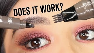 DIY 'MICROBLADING' EYEBROW MARKER PEN | DOES IT WORK?