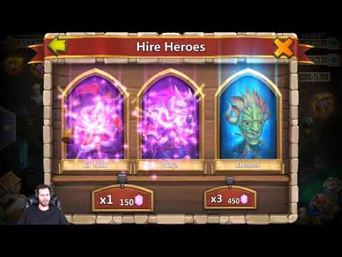 Rolling 50k For Heroes Quick Shard Session Castle Clash