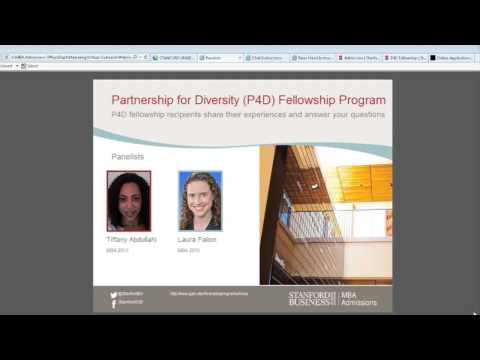 Stanford MBA Program & Partnership for Diversity Fellowship Webinar