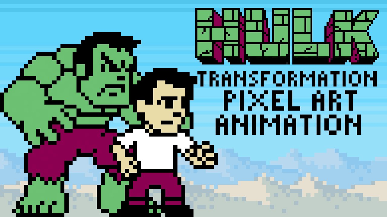 Hulk Transformation Pixel Art Animation with Commentary by PXLFLX ...