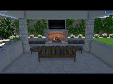 Spacious Outdoor Entertainment Space - Premier Paradise Inc Luxury Pool Design