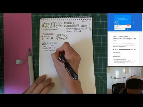 Sketchnoting: Custom Views Fragmented Podcast (LiveStream)