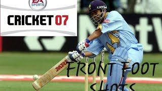 How to play various kinds of front foot shots in EA Sports Cricket 2007? by Cricket Josh