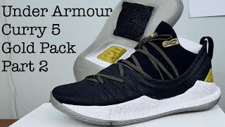 Under Armour Curry 5 - Gold Pack Black