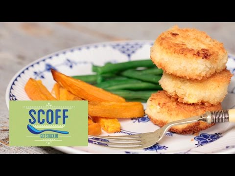 Fish Cakes With Roasted Sweet Potatoes | Cooking For Kids 3