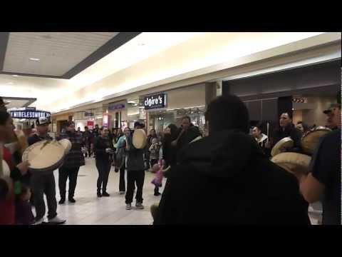 Idle No More Flash Mob Round Dance Northgate Mall Regina, Saskatchewan Jan. 24, 2013