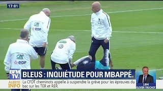 Après un contact avec Rami, Mbappé a quitté l'entraînement des Bleus