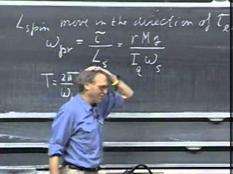 Lec 24: Rolling Motion, Gyroscopes | 8.01 Classical Mechanics, Fall 1999 (Walter Lewin)