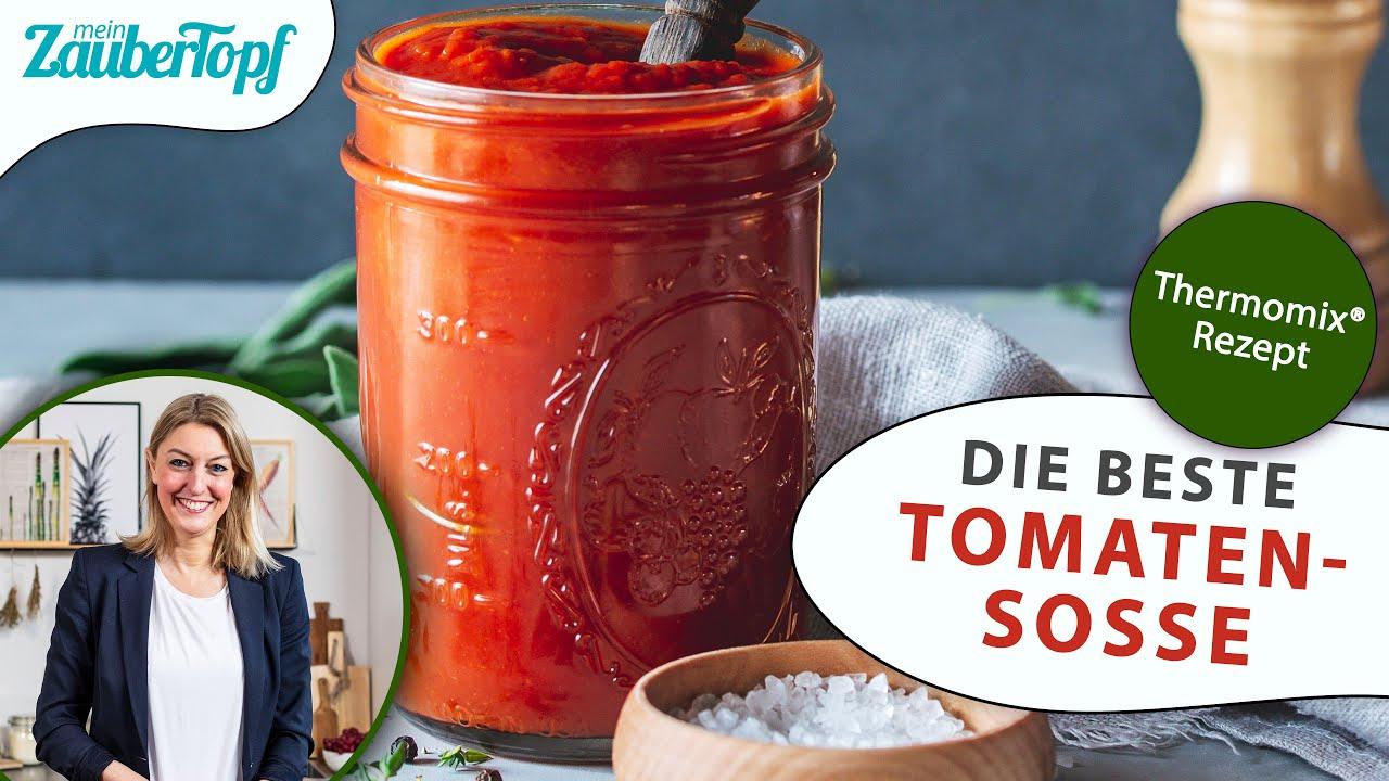 😍😍 Die BESTE Tomatensoße im Thermomix®: Perfekte Grundlage für Nudeln, Tomatensuppe oder Pizza 🍅