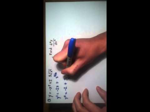 Math 317259 higher order derivatives