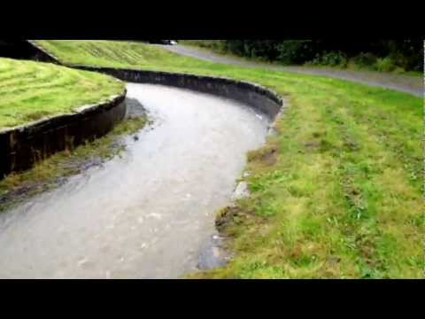 Carr Mill Dam St Helens In Flood 2012