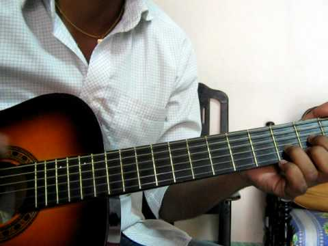 Tamil song guitar chord for beginner . April Maathathil - YouTube