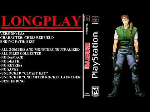 Resident Evil (PlayStation) - (Longplay - Chris Redfield | Best Ending Path)