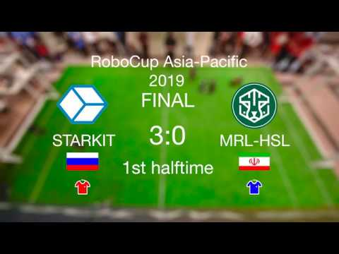 Starkit (Russia) vs MRL (Iran) RoboCup Asia-Pacific FINAL