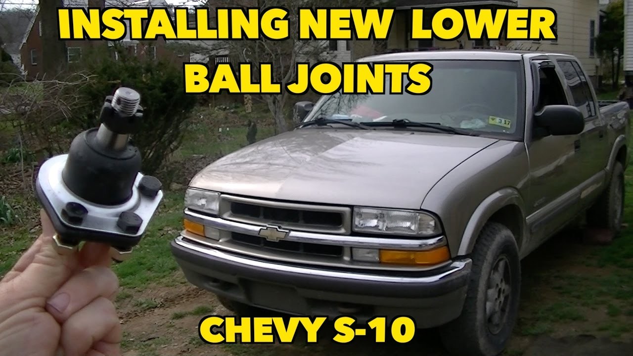 hight resolution of chevy s 10 lower ball joint replacement with factory rivets ugh