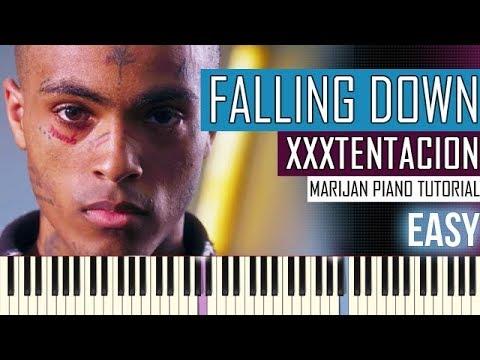 How To Play: Lil Peep & XXXTENTACION - Falling Down   Piano Tutorial EASY