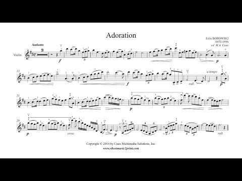 Borowski : Adoration - YouTube