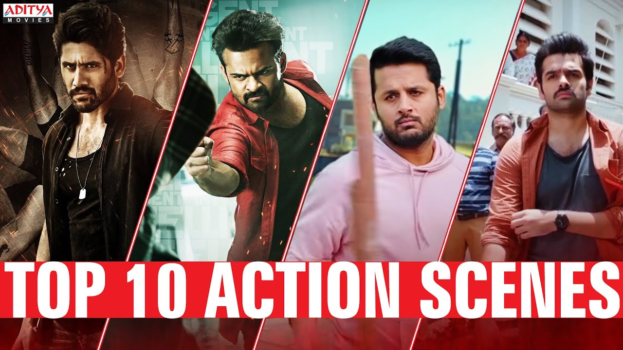 Top 10 Best Action Scenes  | South Indian Hindi Dubbed Movies | Aditya Movies