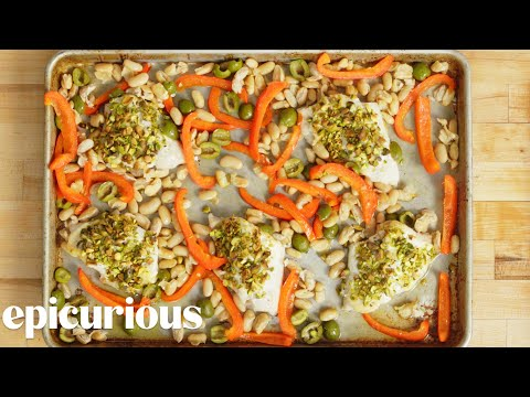 How To Cook Pistachio-Crusted Sea Bass | Epicurious