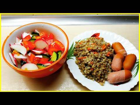 Вкусная гречневая каша с овощами в мультиварке REDMOND
