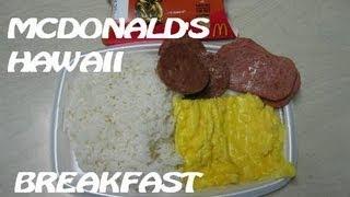 Mcdonald's Hawaii Local Deluxe Breakfast + Haupia Pie (add Sriracha!)