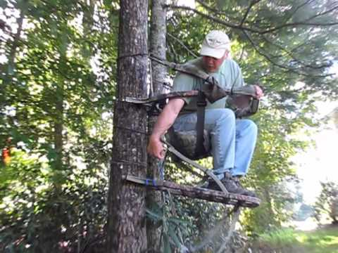 Leveling A Summit Treestand Youtube