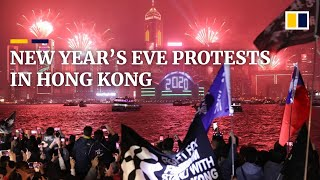 New Year's Eve protests in Hong Kong