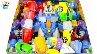 Learning Color disney cars and Magnetic transformation robot full Box Play toys funny video for kids