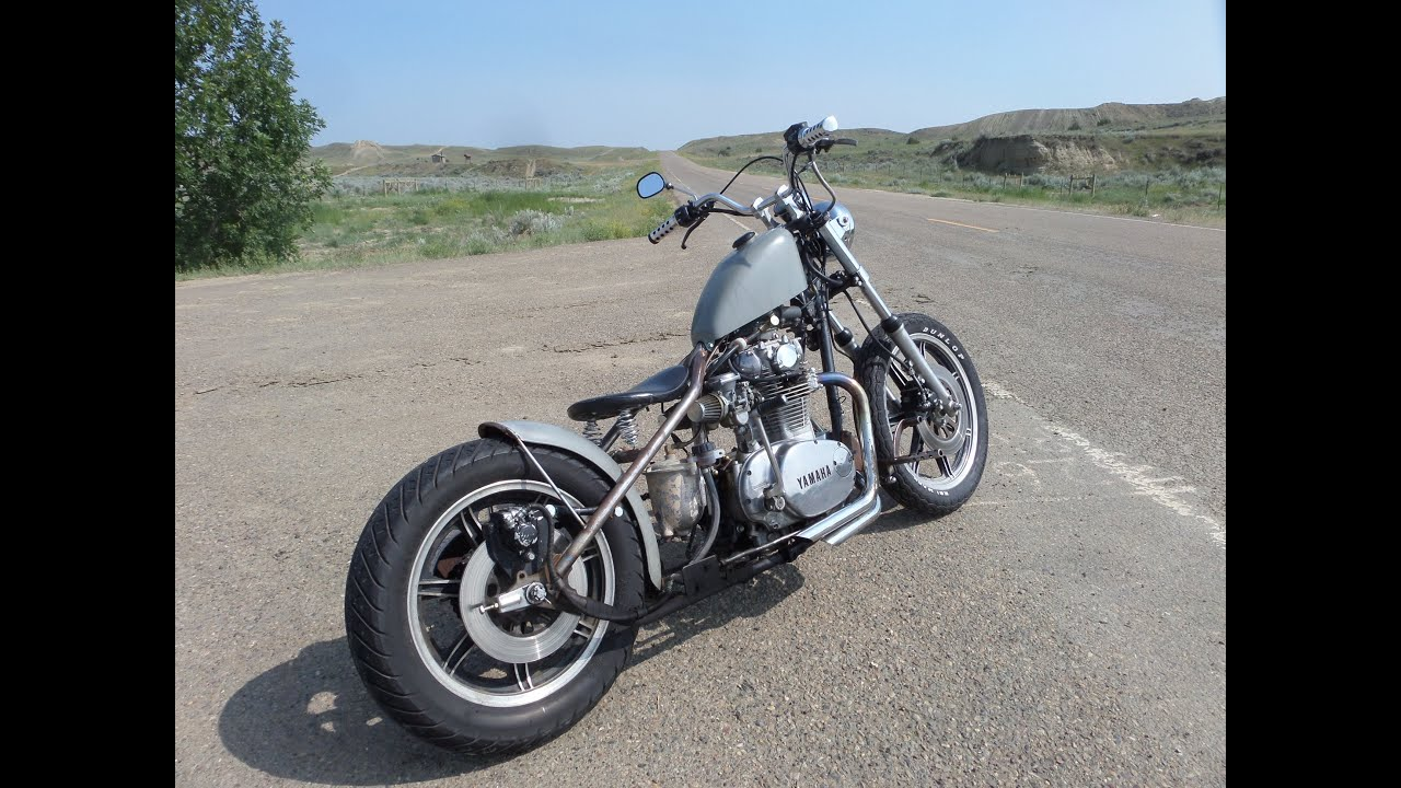 my xs650 hardtail bobber running and riding