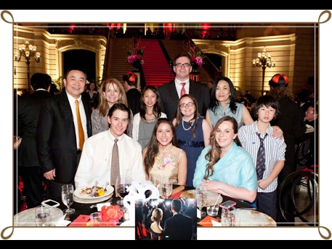 Joan Chen and family photos with friends and relatives