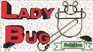 Solution for Lady Bug from Puzzle Master Wire Puzzles