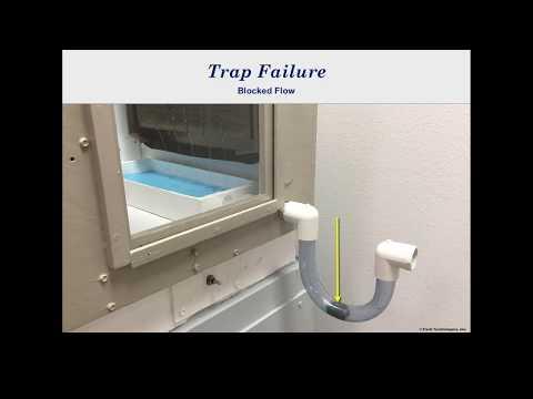 HVAC Trap Failure - Blocked Flow and Freezing