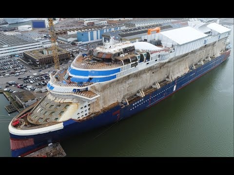 4K | Special look at CELEBRITY EDGE under construction at STX France