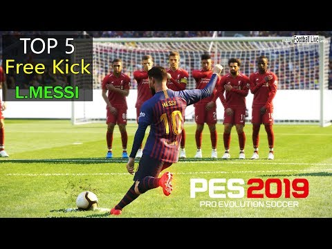 PES 2019 | Top 5 Free Kick Goals | LIONEL MESSI